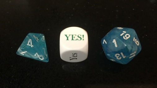 Yes No But dice with d20 d4