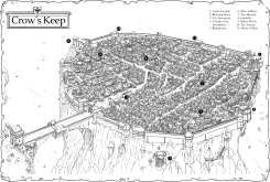 Crow's Keep on map background