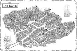 Dol-Karok on map background