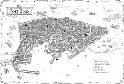 Port Brax on map background