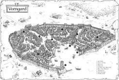 Vorngard on map background