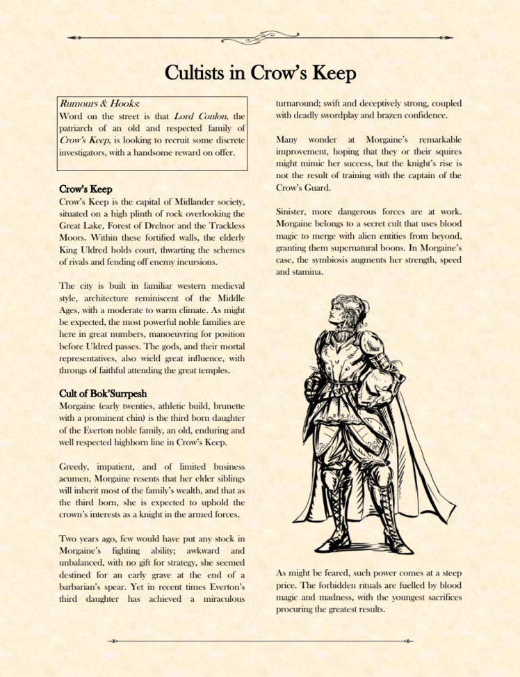 Cultists in Crow's Keep p.2