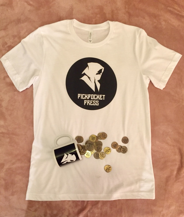 Shirt & mug with coins